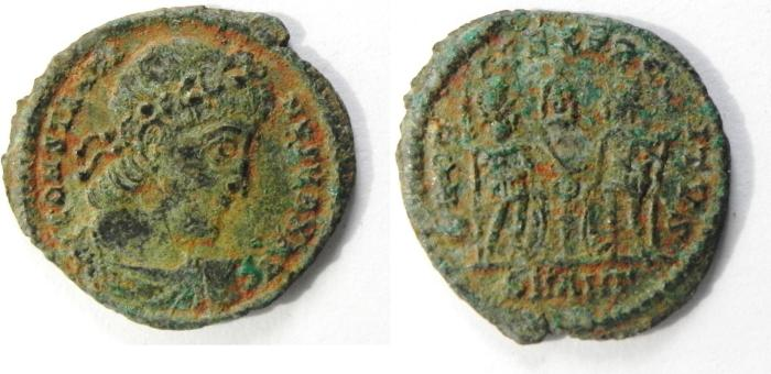 Ancient Coins - CONSTANTINE II AE 3 AS FOUND