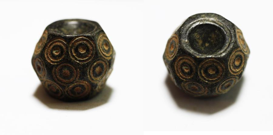 Ancient Coins - ANCIENT BYZANTINE BRONZE WEIGHT OF 1 UNCIA. 6TH - 8TH A.D