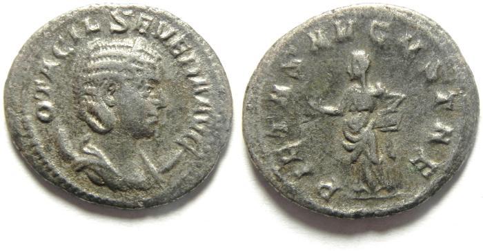 Ancient Coins - Otacilia Severa AR antoninianus. Rome, 244-249 AD