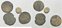 World Coins - LOT OF 4 OTTOMAN SILVER COINS & OTHERS