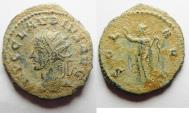 Ancient Coins - BEAUTIFUL AS FOUND CLAUDIUS II GOTHICUS ANTONINIANUS. DESERT PATINA