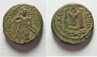 Ancient Coins - Very Rare: ISLAMIC. Umayyad Caliphate. Time of Abd al-Malik (AH 65-86 / AD 685-705) AE fals