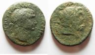 Ancient Coins - PHOENICIA, Dora. Trajan, 117 - 138 AD. Head of Doros.
