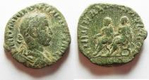 Ancient Coins - Philip II (AD 247-249). AE sestertius (28mm, 14.83g). Rome mint. struck AD 247-249