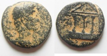 Ancient Coins - Judaea. Herodian dynasty. Herod Philip (4 BCE-34 CE). AE 19mm, 5.52g. Caesarea Panias mint.