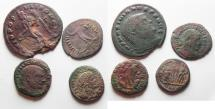 Ancient Coins - LOT OF 4 ROMAN AE COINS