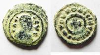 Ancient Coins - Axumite kingdom. Anonymous issue (c. AD 370). AE 14 mm