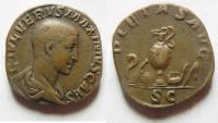 Ancient Coins - MAXIMUS. (AD 235-238) Sestertius. RARE!