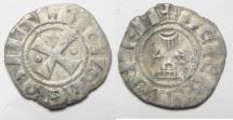 World Coins - MEDIEVAL. CRUSADER STATES. KINGDOM OF JERUSALEM. BALDWIN III (1143-1146). BILLON DENIER