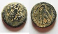 Ancient Coins - PTOLEMAIC KINGDOM. PTOLEMY II AE 15. AS FOUND. TYRE