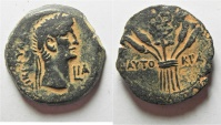 Ancient Coins - EGYPT. ALEXANDRIA. Claudius  AD 41-54. AE. Diobol