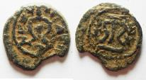 Ancient Coins - JUDAEA. HERODIAN . AE DOUBLE PRUTAH. HEROD I THE GREAT