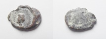 Ancient Coins - ROMAN PROVINCIAL. Lead seal impression (19mm, 4.28g). First century BC/AD