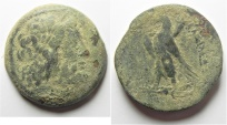 Ancient Coins - PTOLEMAIC KINGDOM. PTOLEMY II AE 30. AS FOUND. PHOENICIAN MINT
