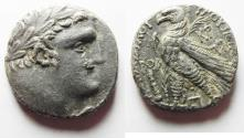 Ancient Coins - Phoenicia. Tyre. AR shekel (24mm, 12.91g). Struck in civic year 171 (AD 45/6).
