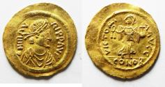 Ancient Coins - Maurice Tiberius. 582-602. AV Semissis