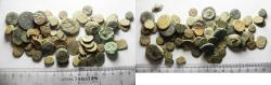 Ancient Coins - LOT OF 80 AS FOUND ANCIENT BRONZE COINS. MIXED