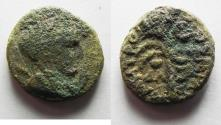 Ancient Coins - AS FOUND. PHOENECIA. TYRE . 1ST CENT. A.D. AE 15