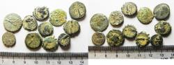 Ancient Coins - LOT OF 11 ROMAN &BRONZE ROMAN & GREEK COINS