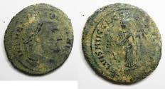 Ancient Coins - AS FOUND: Galerius as Caesar (AD 293-305) Æ Follis. Carthage Mint
