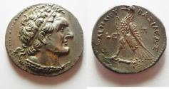 Ancient Coins - SUPERB QUALITY: Egypt. Ptolemaic kings. Ptolemy VI Philometor (180-145 BC) AR tetradrachm (28mm, 13.90g). Paphos mint. Struck in regnal year 5 (177/6 BC).