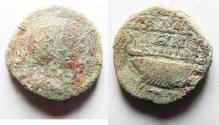Ancient Coins - NEEDS CLEANING. DECAPOLIS. GADARA. GORDIAN III AE 23. WITH GALLEY