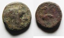 Ancient Coins - KYRENAICA, Kyrene. temp. Magas. As Ptolemaic governor, second reign, circa 261-258 BC. Æ 15