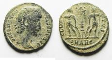 Ancient Coins - CONSTANTIUS II AE 4 . AS FOUND