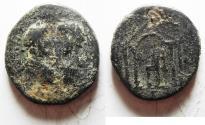 Ancient Coins - JUDAEA, Aelia Capitolina (Jerusalem). Marcus Aurelius & Lucius Verus. AD 161-169. Æ 31