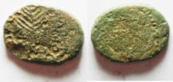 Ancient Coins - BE-HEADER OF JOHN THE BAPTIST: Judaea. Herodian dynasty. Herod Antipas (4 BCE-39 CE). Tiberias mint. AE 24mm, 11.82gm.