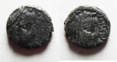 Ancient Coins - Nabatean Kingdom. Malichus II (AD 40-70). AR drachm (15mm, 2.57g). Struck c. AD 45/6-64/5.