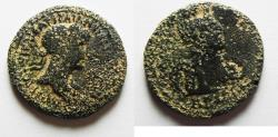 Ancient Coins - DECAPOLIS. BOSTRA UNDER HADRIAN AE 22. WITH ARABIA ON REVERSE