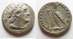 Ancient Coins - Egypt. Ptolemaic kings. Ptolemy V Epiphanes or Ptolemy VI Philometor (204-180 BC or 180-145 BC). AR tetradrachm (26mm, 13.91g). Alexandria mint.
