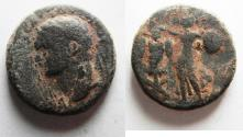 Ancient Coins - JUDAEA, Judaea Capta. Domitian. AD 81-96. Æ (22mm, 10.36 gm). Caesarea Maritima mint. Struck circa 83 CE or later.