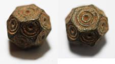 Ancient Coins - ANCIENT BYZANTINE BRONZE WEIGHT OF 1/2 UNCIA. 6TH - 8TH A.D
