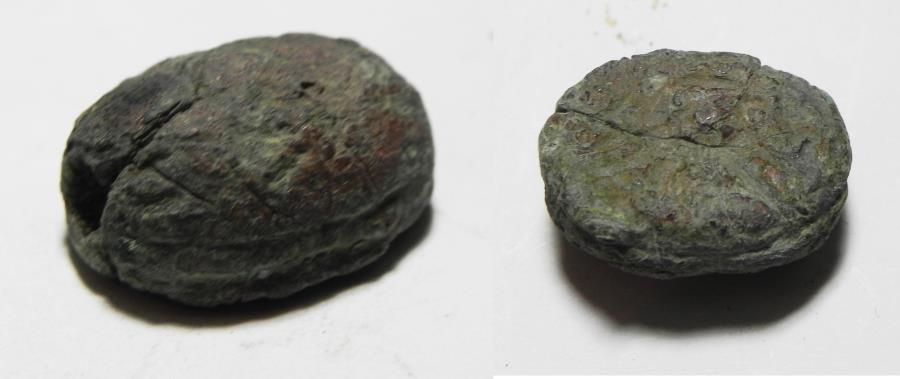 Ancient Coins - IRON AGE. HOLY LAND. BRONZE SCARAB. 1200 - 900 B.C