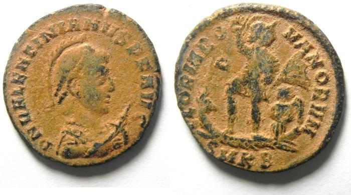 Ancient Coins - Valentinian II, 17 November 375 - 15 May 392 A.D. AE 2 , VERY HIGH QUALITY AS FOUND