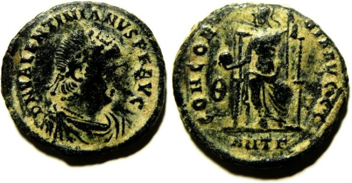 Ancient Coins - VALENTINIAN AE 3 , NICE