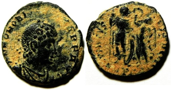 Ancient Coins - HONORIUS AE 3 , NICE DESERT PATINA