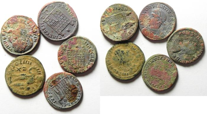 Ancient Coins -  LOT OF 5 ROMAN AE 3 , HIGH QUALITY , GREAT POTENTIAL!!!