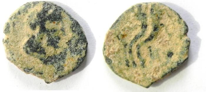 Ancient Coins - NABATAEAN , RARE COIN OF PHASAEL , ARETAS IV SON