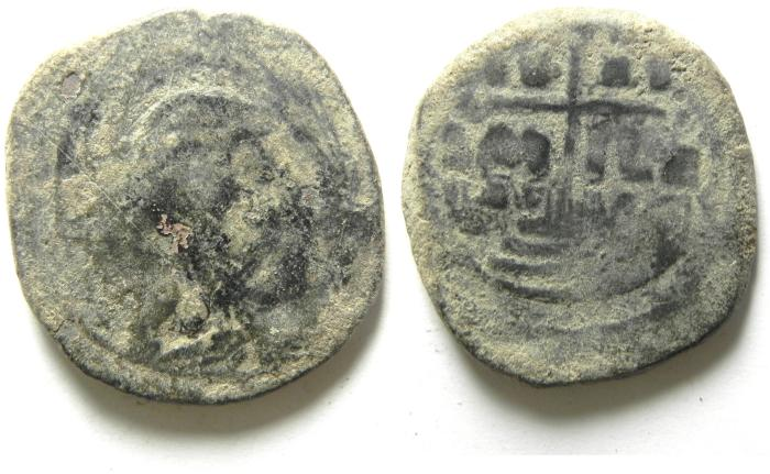 Ancient Coins - ANONYMOUS BYZANTINE FOLLIS / JESUS CHRIST