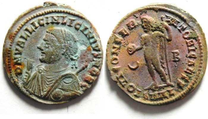 Ancient Coins - LICINIUS II  AE FOLLIS , ALEXANDRIA , NICE QUALITY