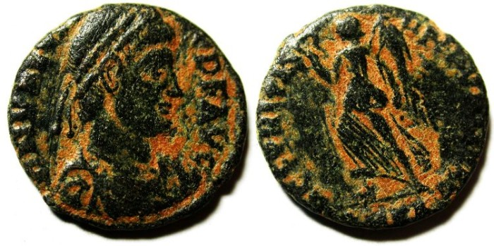 Ancient Coins - VALENS AE 3 , NICE