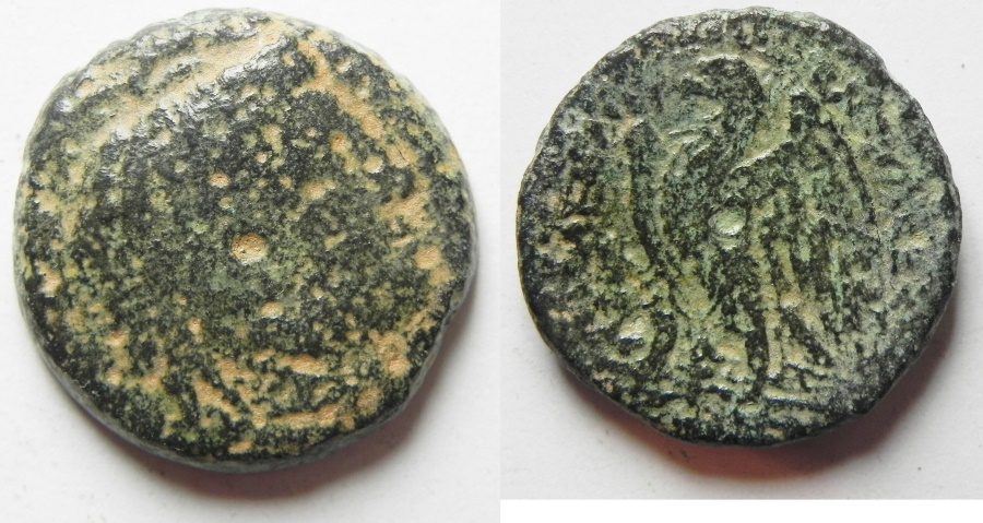 Ancient Coins - PTOLEMY II AE 22