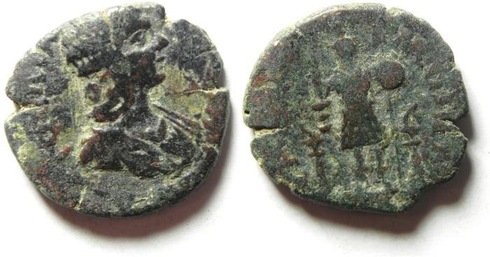 Ancient Coins - ARABIA , RABBATH MOBA , SCARCE JULIA DOMNA , YOUNG PORTRIAT! AE 27