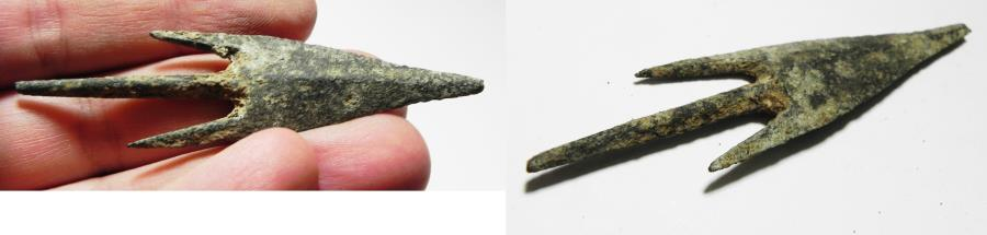 Ancient Coins - ANCIENT HOLY LAND. CANAANITE BRONZE ARROW HEAD. 1400 B.C