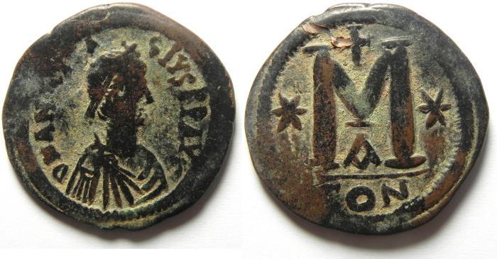 Ancient Coins - ANASTASIUS AE FOLLIS AE 36