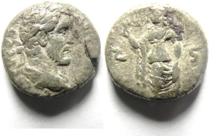Ancient Coins - EGYPT , ALEXANDRIA, ANTONINUS PIUS BILLON TETRADRACHM