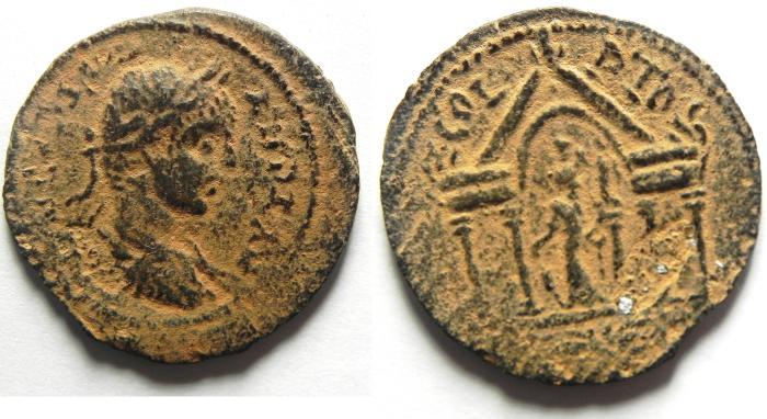 Ancient Coins - PHOENICIA, Akko Ptolemais (AKKO , ISRAEL). Caracalla, AD 198-217, Æ 26mm. VERY RARE COIN!!!